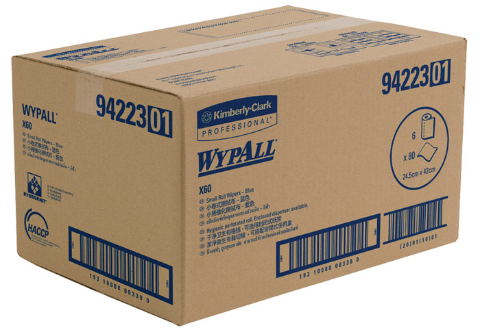 WYPALL* X60 Small Roll Wipers - Blue